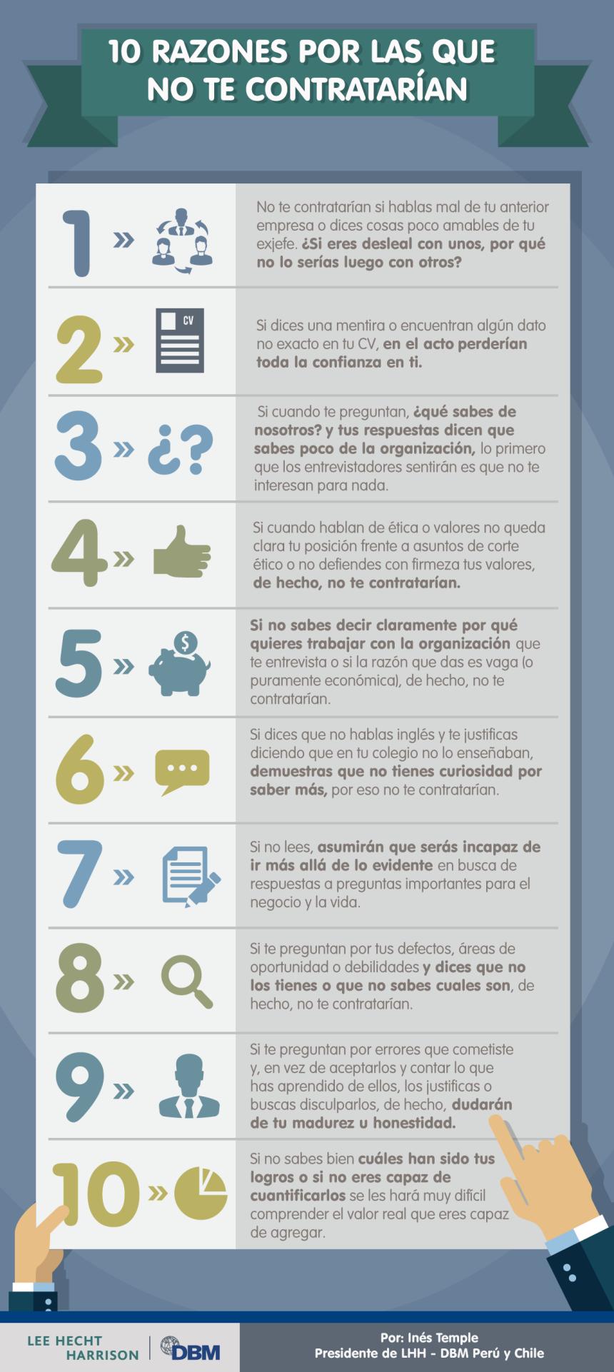 10 RAZONES POR LAS QUE NO TE CONTRATARÍA UNA EMPRESA – ¡Bienvenid@ a ...